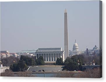 Monument View From Iwo Jima Memorial - 12121 Canvas Print by DC Photographer