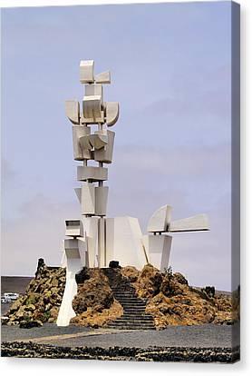 Monumento Al Campesino On Lanzarote Canvas Print by Karol Kozlowski