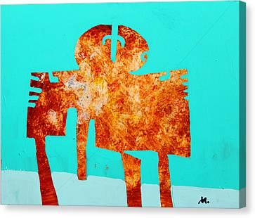 Monumentum No 4 Canvas Print by Mark M  Mellon