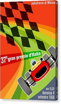 Monza Grand Prix 1966 Canvas Print by Georgia Fowler