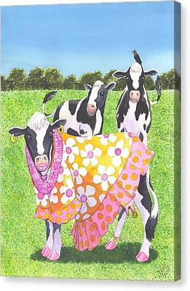 Moo Moo Canvas Print by Catherine G McElroy