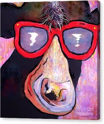 Moo-vie Star Cow Canvas Print by Eloise Schneider