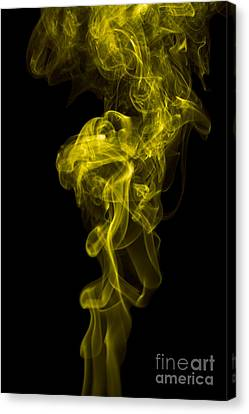 Mood Colored Abstract Vertical Yellow Smoke Wall Art 01 Canvas Print by Alexandra K