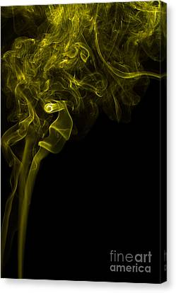 Mood Colored Abstract Vertical Yellow Smoke Wall Art 03 Canvas Print by Alexandra K