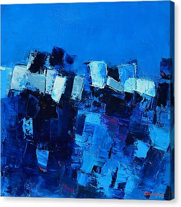 Mood In Blue Canvas Print by Elise Palmigiani
