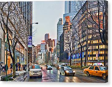Moody Afternoon In New York City Canvas Print