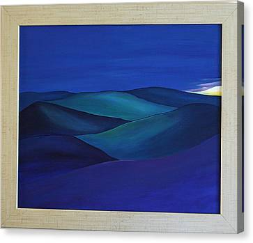 Moody Blue Canvas Print by Aileen Carruthers
