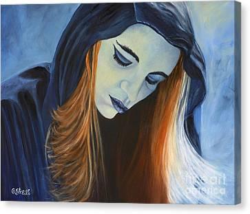 Moody Blue Canvas Print by Caroline Street