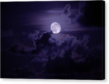Moody Moon Canvas Print