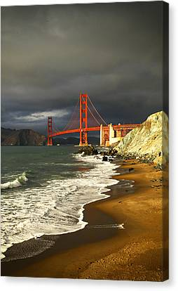 Canvas Print featuring the photograph Moody On Gold  by Michael Hope