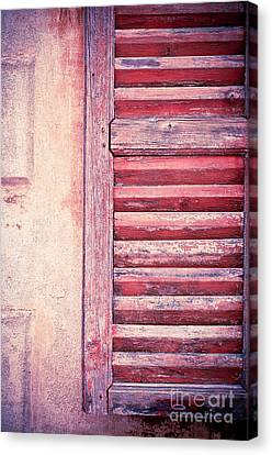 Moody Weathered Shutter Canvas Print by Silvia Ganora