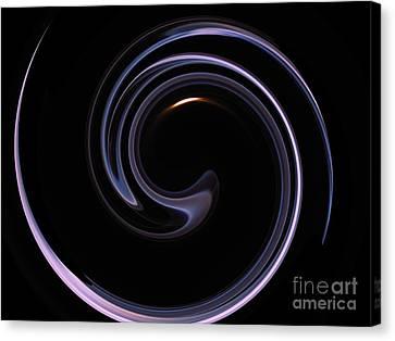 Moon And Smoke Spiral Canvas Print
