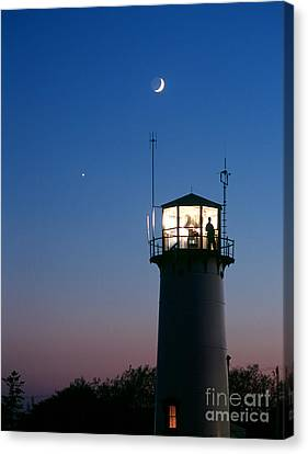 Chatham Canvas Print - Moon And Venus by Chris Cook