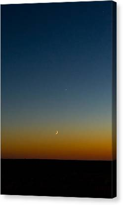 Waning Moon Canvas Print - Moon And Venus II by Marco Oliveira