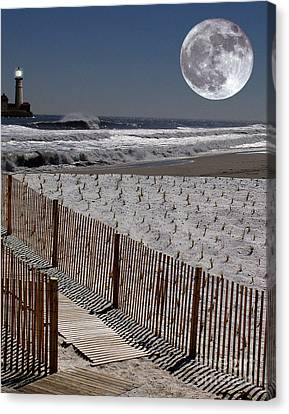 Moon Bay Canvas Print