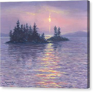Moon Beam Canvas Print by Richard De Wolfe