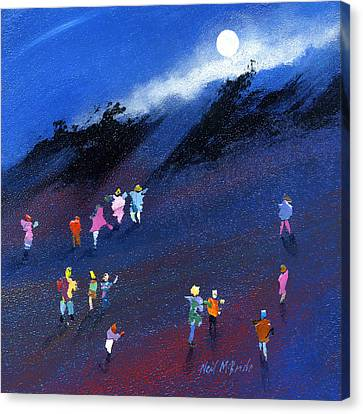 Moon Beam Search Canvas Print by Neil McBride
