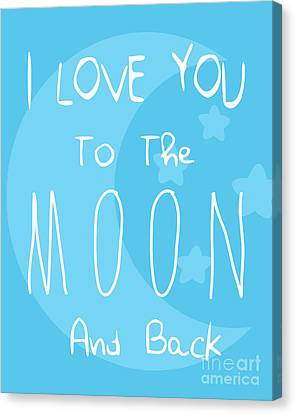 Moon Blue Canvas Print by Pati Photography