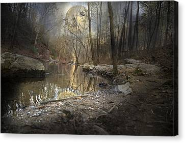 Winter In The Country Canvas Print - Moon Camp by Betsy Knapp