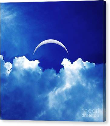 Moon Cloud Canvas Print
