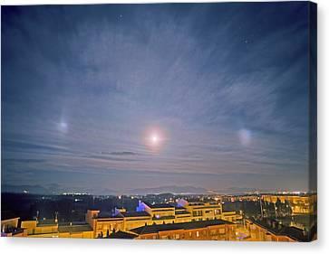 Moonlit Canvas Print - Moon Dogs by Juan Carlos Casado (starryearth.com)
