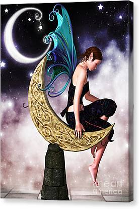 Moon Fairy Canvas Print by Alexander Butler