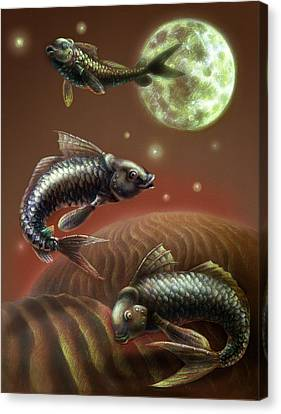 Moon Fish Canvas Print