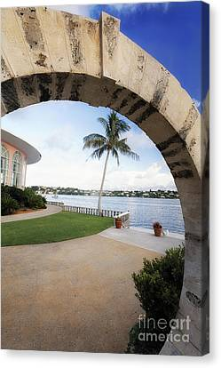 Moon Gate In Bermuda Canvas Print by George Oze
