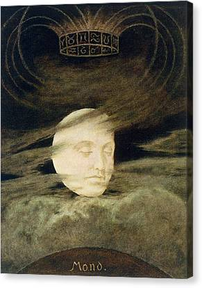 Moon Canvas Print by Hans Thoma