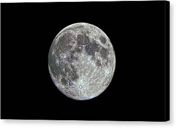 Moon Hdr Canvas Print by Greg Reed