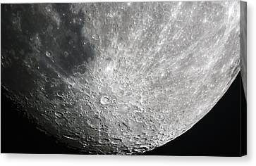 Moon Hi Contrast Canvas Print by Greg Reed