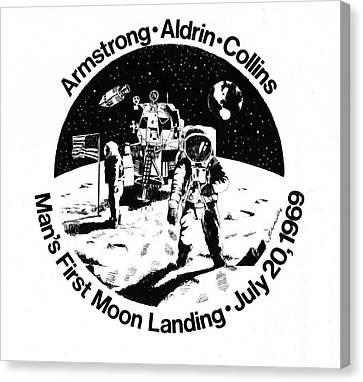 Moon Landing Canvas Print by J W Kelly
