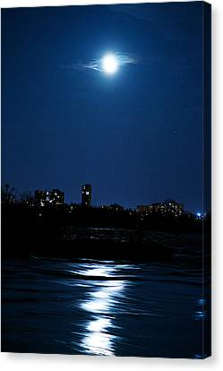 Moon Light Canvas Print by Andre Faubert