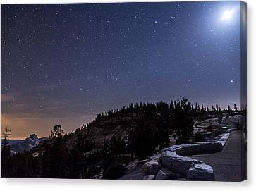 Moon Light At Olmstead Point Canvas Print by Cat Connor
