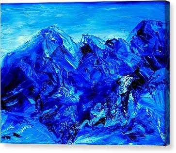 Moon Light Basin Big Sky Montana Canvas Print