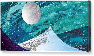 Moon Light Mountains Canvas Print by Tim Ford