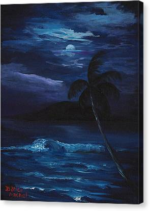 Moon Light Tropics Canvas Print