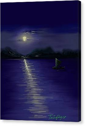 Moon Light Canvas Print by Twinfinger