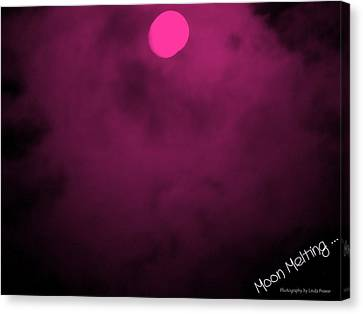 Moon Melting Canvas Print