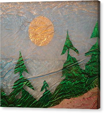 Moon Mist  Canvas Print by Rick Silas