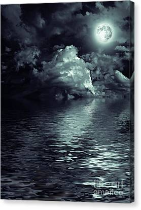 Moon Mysterious Canvas Print by Boon Mee