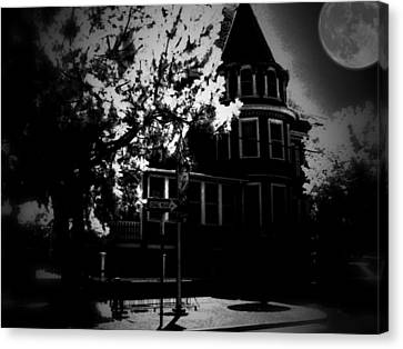 Canvas Print featuring the photograph Moon N U by Robert McCubbin