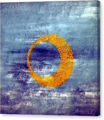 Canvas Print featuring the painting Moon by Nico Bielow