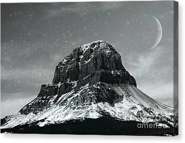 Moon Over Crowsnest Canvas Print