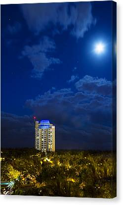 Moon Over Ft. Lauderdale Canvas Print