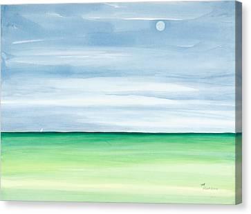 Moon Over Islamorada Canvas Print by Michelle Wiarda