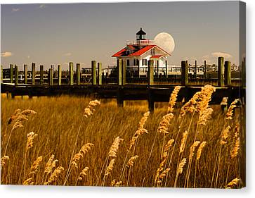 Moon Over Manteo Canvas Print