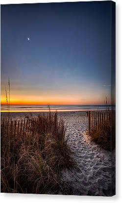 Moon Over Myrtle Beach Canvas Print