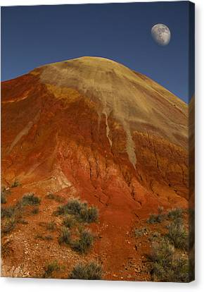 Moon Over Painted Hills Canvas Print