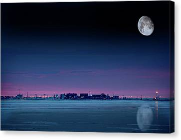 Moon Over Prudhoe Bay Canvas Print